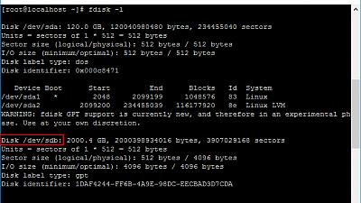 CentOS 7 에 하드디스크 추가 설치